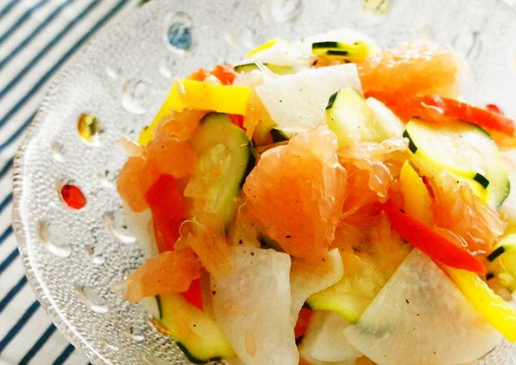 Easiest Way to Cook Tasty Refreshing Grapefruit and Daikon Radish Salad