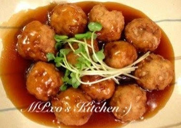 Recipe of Homemade Tofu Meatballs in Sweet Vinegar Ankake Sauce