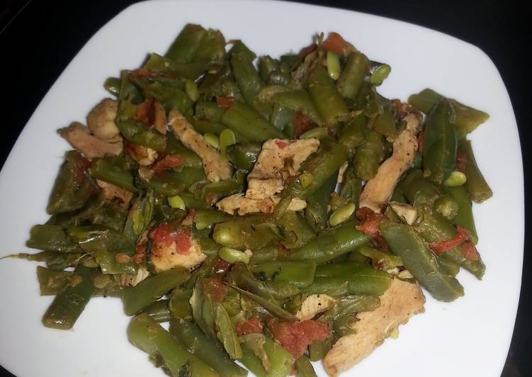 Recipe: Delicious HCG diet meal 1: chicken and string beans