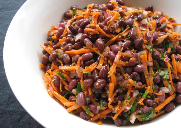 How to Prepare Homemade Azuki & Carrot Salad