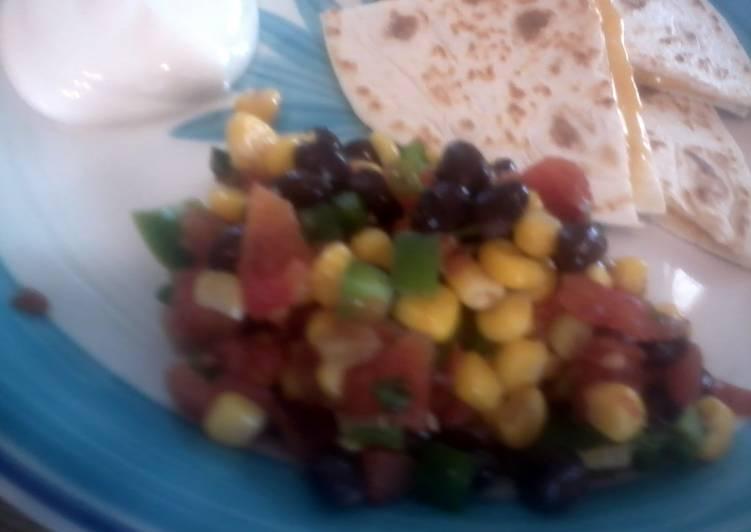 Recipe of Perfect skye's black bean and corn salsa