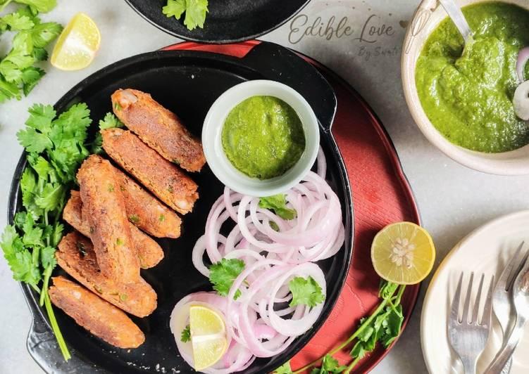 Masoor Dal Seekh Kebabs