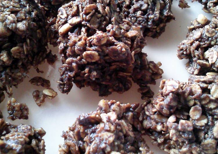 Dark Chocolate Coconut No Bake Cookies