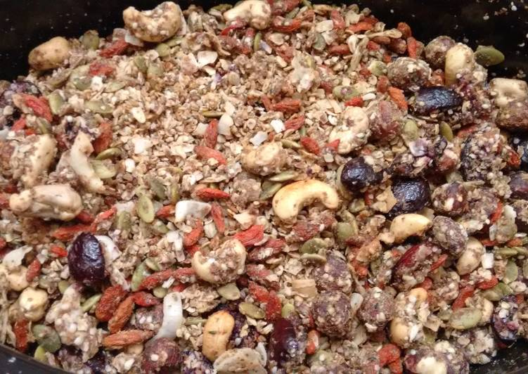 Easiest Way to Cook Yummy Super healthy granola