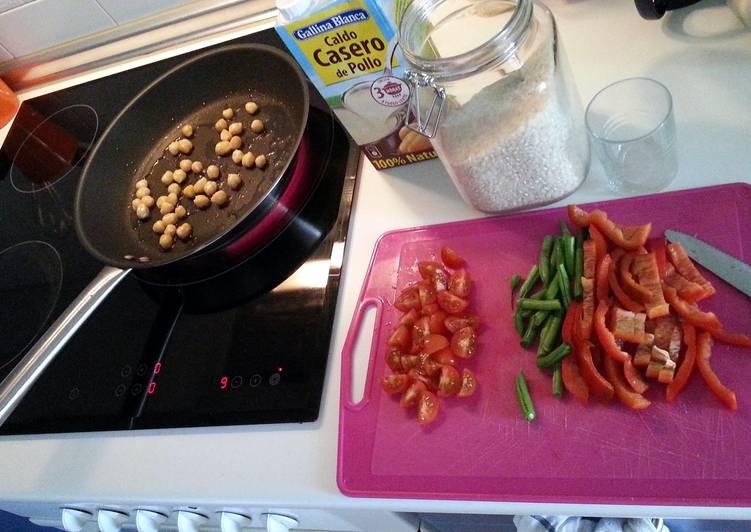 Recipe of Perfect quick vegetable paella
