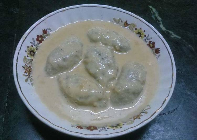 Ranga alur dudh puli(sweet potato dumplings)