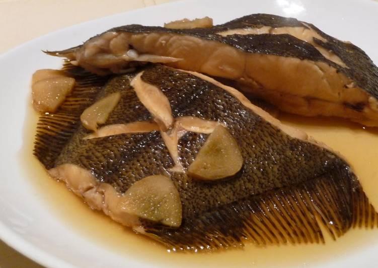 Lightly Flavored Simmered Flounder