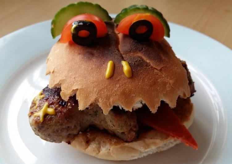 Recipe of Quick Vickys Halloween Man-Eating Bun Decorating Idea