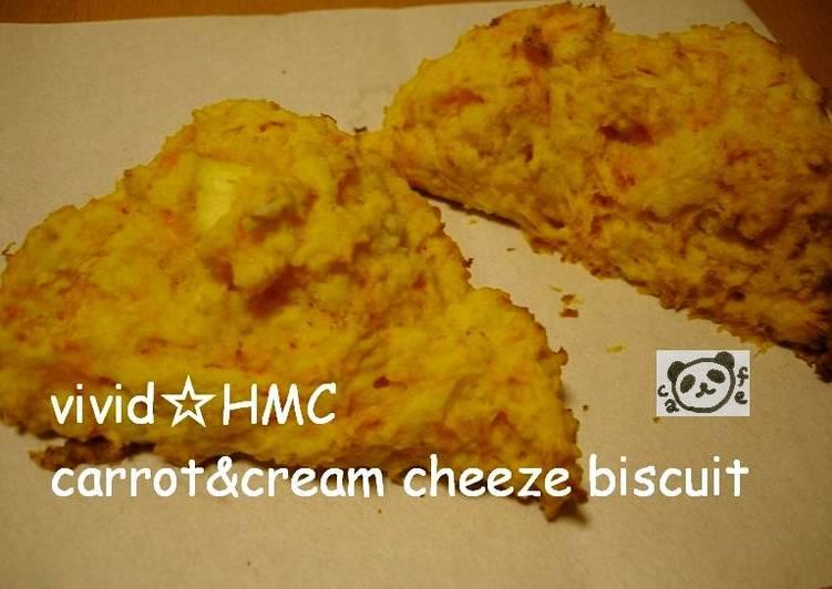 Steps to Make Quick Vivid Pancake Mix & Carrot Cheese Scones