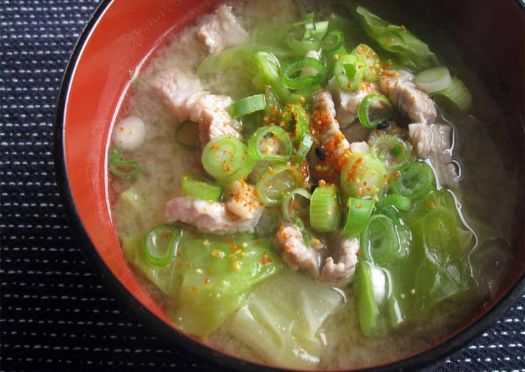 Pork & Cabbage Miso Soup