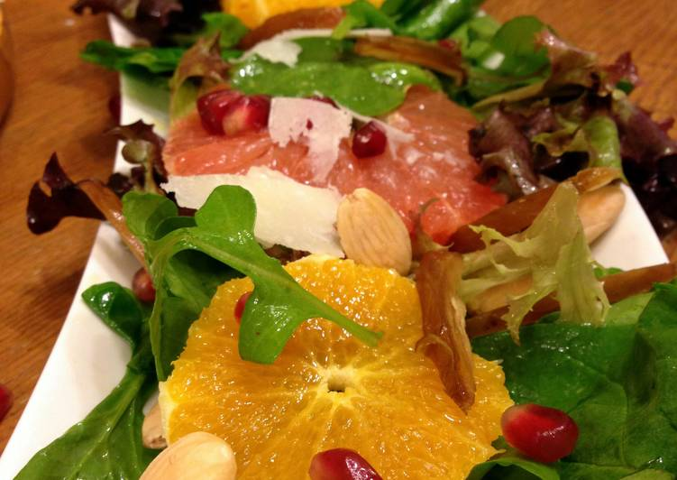 Simple Way to Make Top-Rated Citrus Fruit Marcona Almond Salad