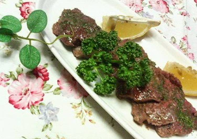 Bite-Size Beef Steak with Garlic Soy Sauce, Help Your Heart with Food