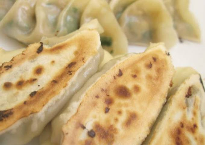 Easy Vegetable Gyoza with Soy Beans