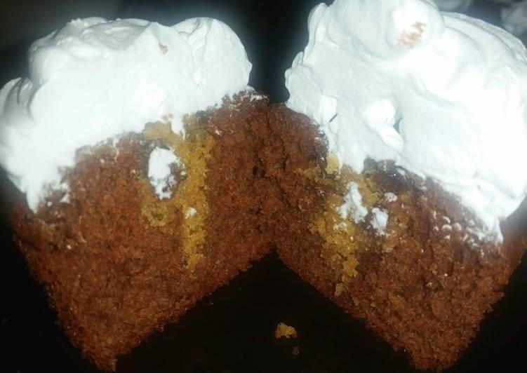 Chocolate Chip Cookie stuffed Cupcakes