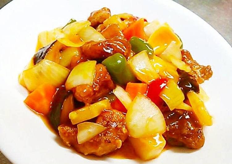 Healthy Sweet and Sour Pork Made Without Deep Frying
