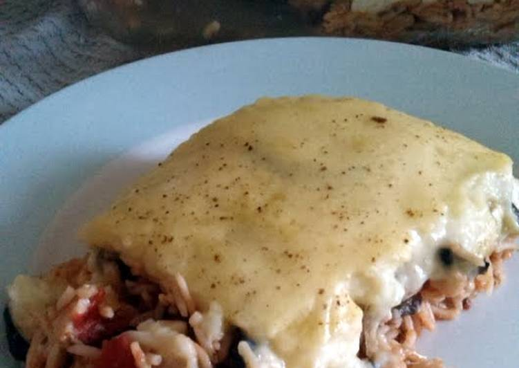 Recipe: Appetizing Vickys Greek-Style Rice Moussaka, GF DF EF SF NF Vegan