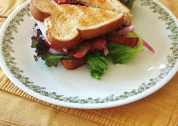 Grilled Chicken Swiss & Bacon Club Sandwich