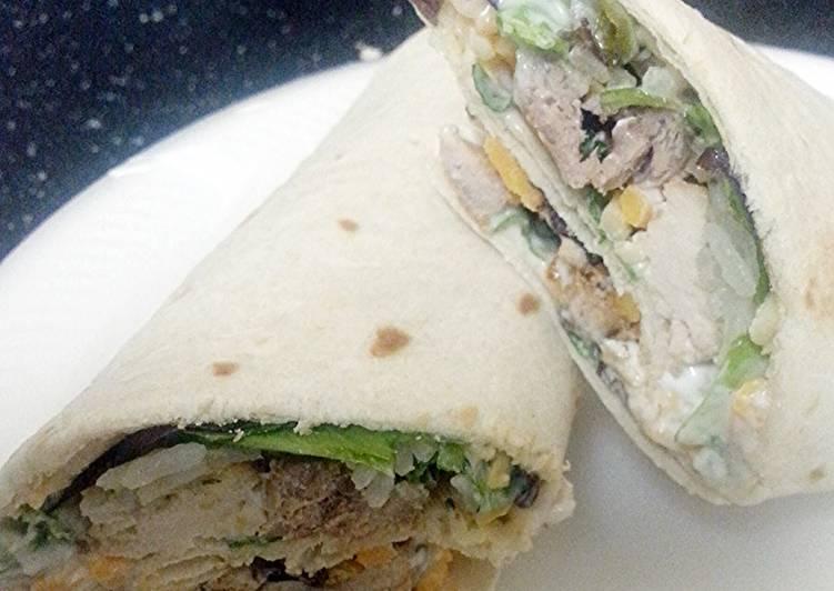 Steps to Prepare Super Quick Homemade Simple pork chop wrap
