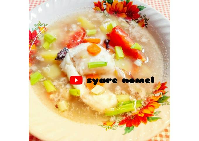 Sup telur ceplok - menu buka puasa simple