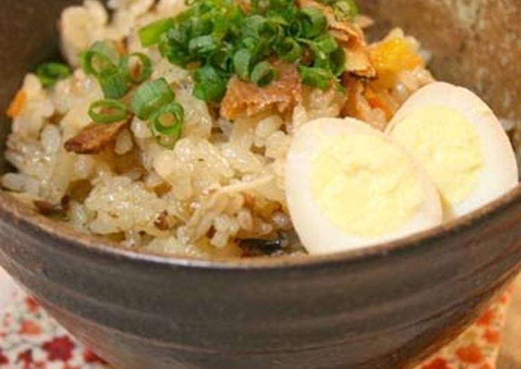 Recipe of Ultimate Easy Mixed Rice with Canned Pacific Saury