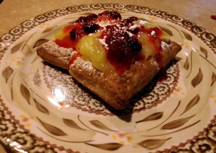 Rustic lemon cranberry tartlets