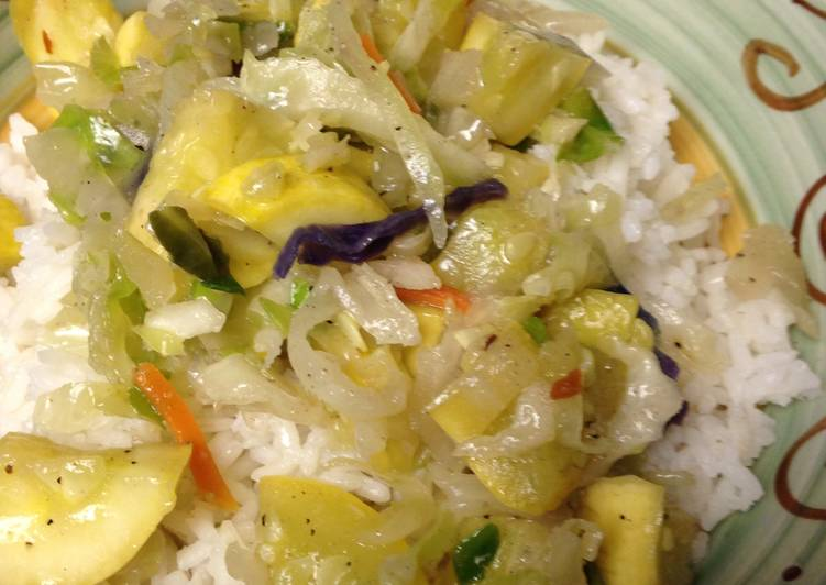 Buttery Summer Squash & Rice