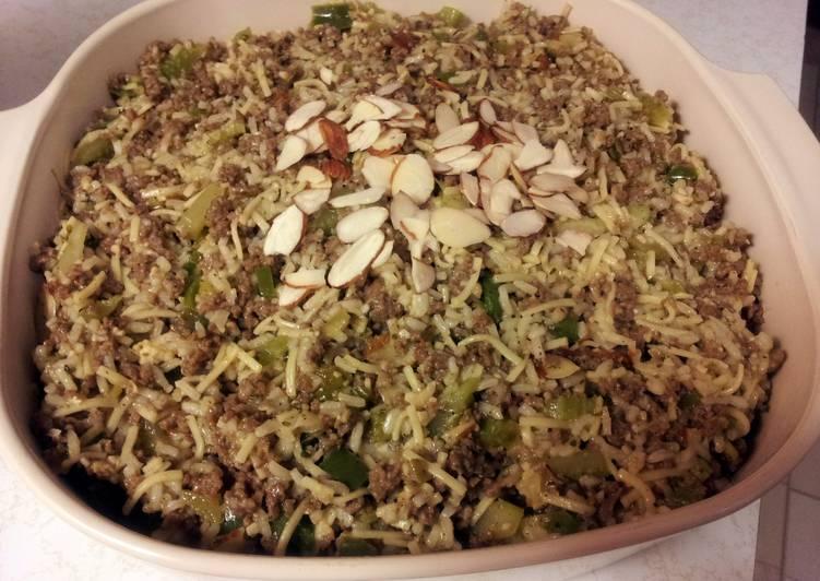 Pat's Almond Rice Casserole