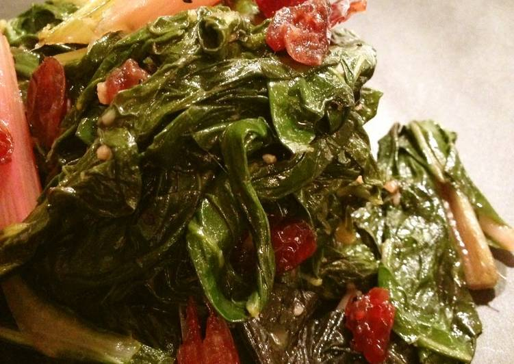 Steps to Make Quick Sautéed Chard with Walnuts & Dried Fruit