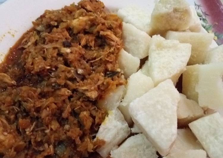 Boiled Yam with Garden Egg Sauce #teamabuja