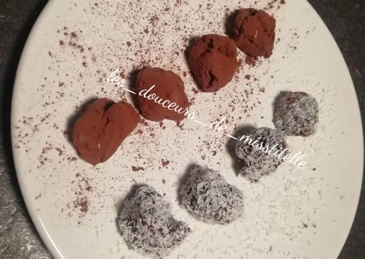 Truffes au chocolat au parfum de vanille 🌺 et de miel 🍯
