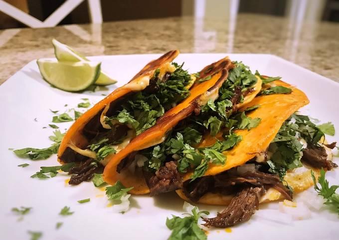 Short rib birria tacos