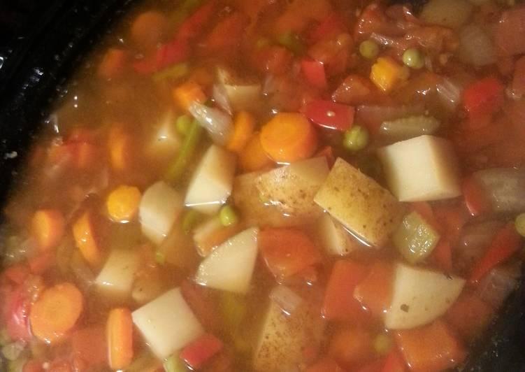 Spicy Vegetable 8 QT Crock Pot Soup