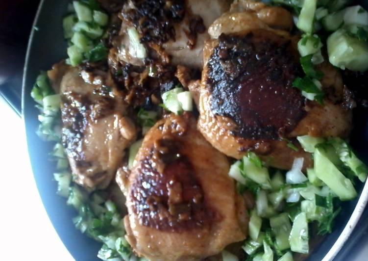 yumilicious chicken thigh pan tikka