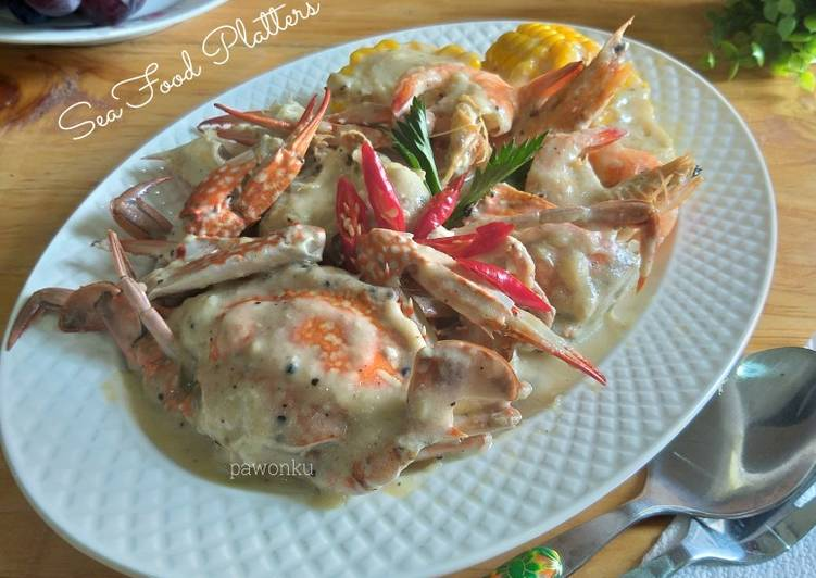 531.Seafood Platters With Creamy Sauce