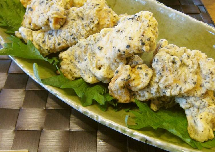 Fluffy Chicken Tempura with a Touch of Sesame