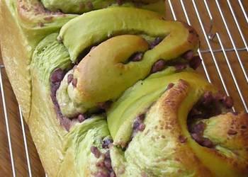 How to Cook Delicious Ogura Japanese Adzuki Bean Paste and Green Tea Bread