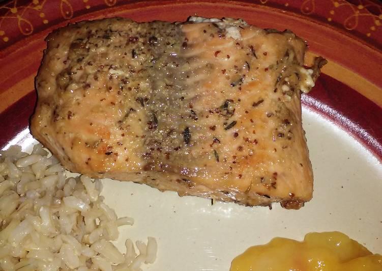 Salmon with Honey Mustard Glaze