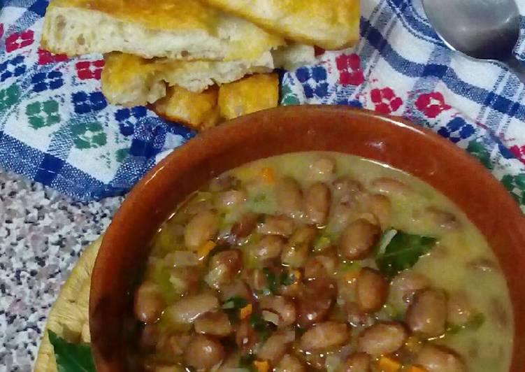Ricetta Zuppa di fagioli borlotti come quella di mia nonna