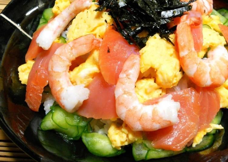 Smoked Salmon Chirashi Sushi