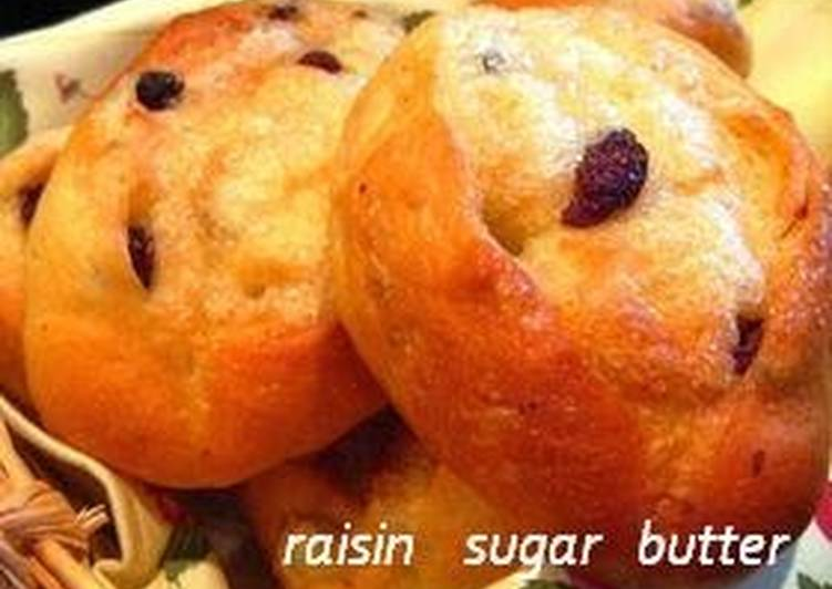 How to Make Any-night-of-the-week Raisin Bread Rolls with Sweet Sugar and Butter Topping