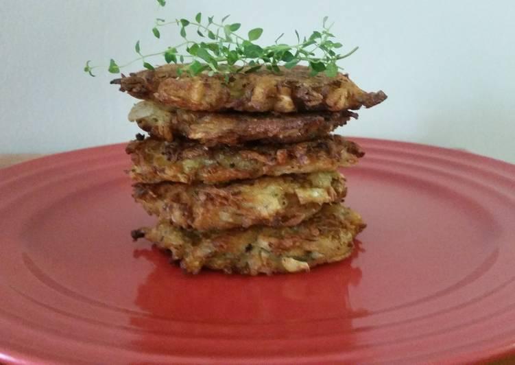 Potato cabbage pancakes