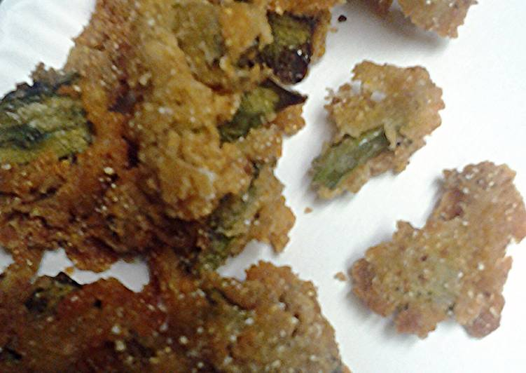breaded and fried cactus