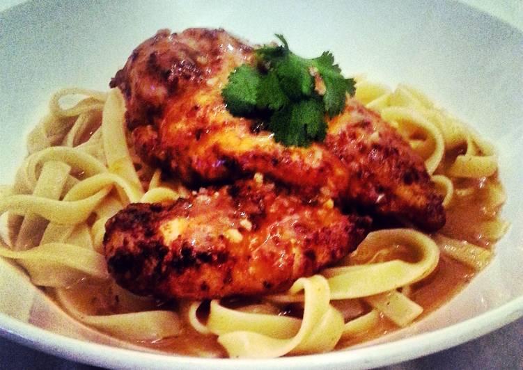 Recipe of Quick Paprika Garlic Chicken Tagliatelle