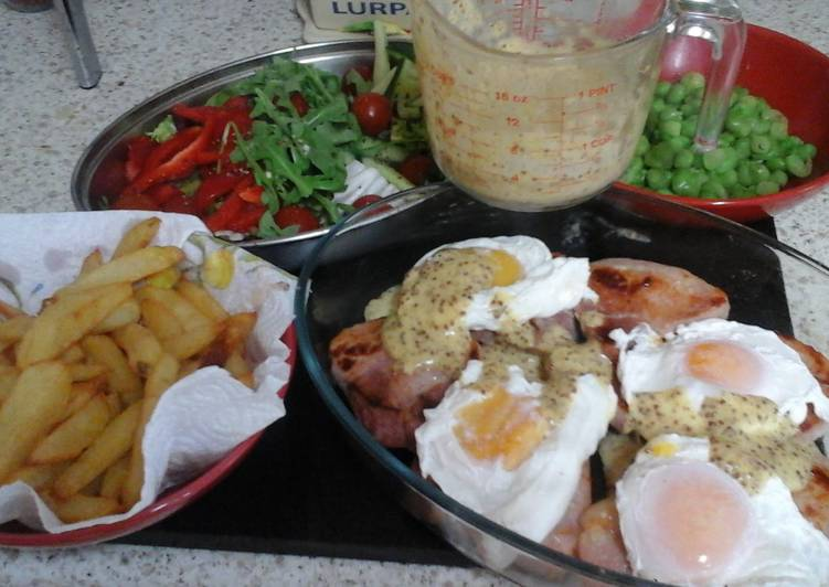 My Poached Egg and Seared Gammon with Homemade Hollandaise Sauce 😉😀