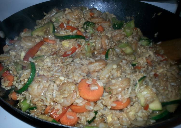 How to Make Quick Shrimp fried rice