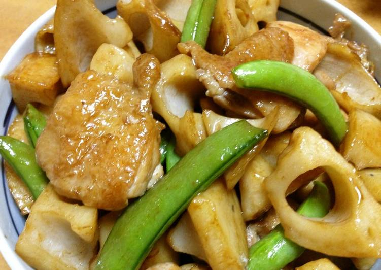 10 Minute Recipe of Spring Simmered Lotus Root and Chicken