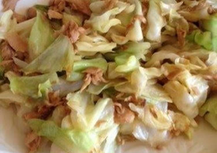 Cabbage and Tuna Stir-Fry