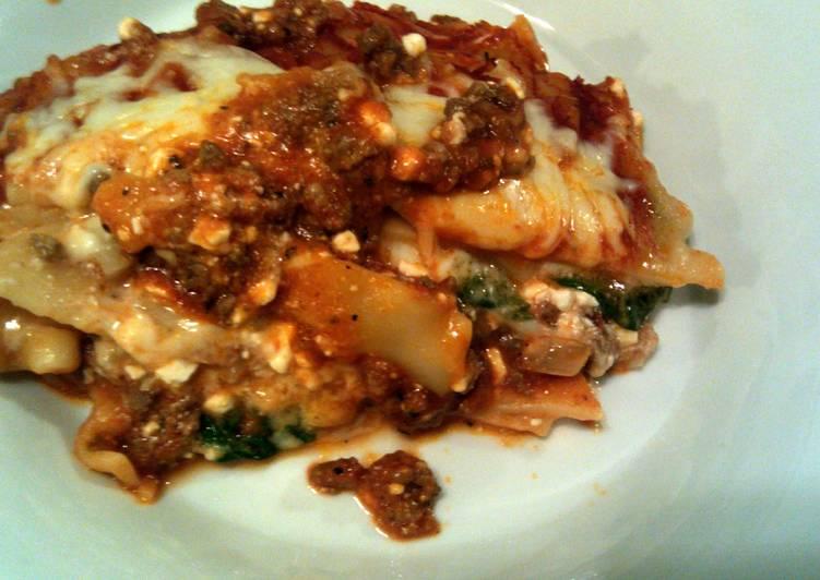 taisen's spinach lasagna