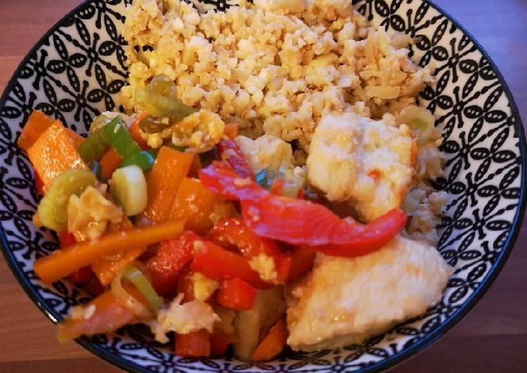 Asiatischer Blumenkohl - Reis