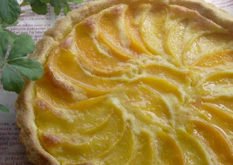 Yellow Peach and Almond Cream Tart